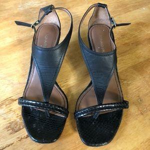 Donald J Pliner Black Leather Heels!